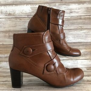 Naturalizer Marloe Brown Synthetic Zip Ankle Boot